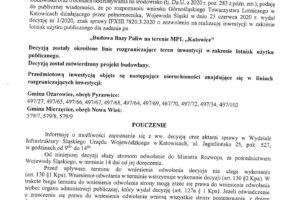 """Obwieszczenie Wojewody Śląskiego dot. realizacji zadania pn """"Budowa Bazy Paliw na terenie MPL Katowice"""""""