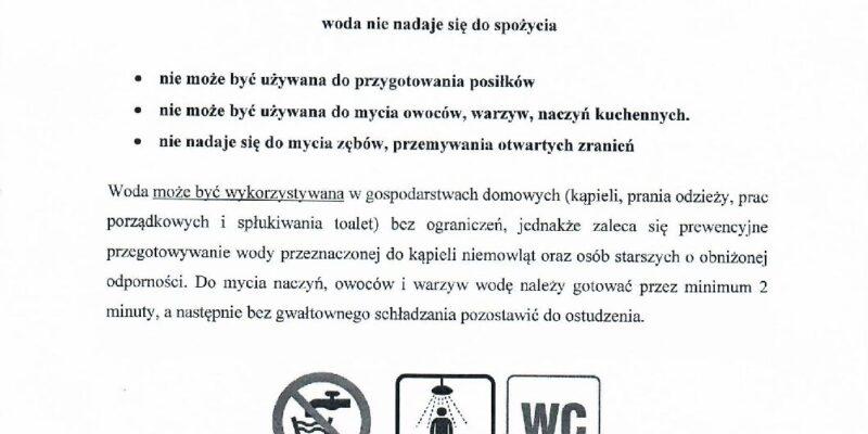 Komunikat dla mieszkańców Świniowic