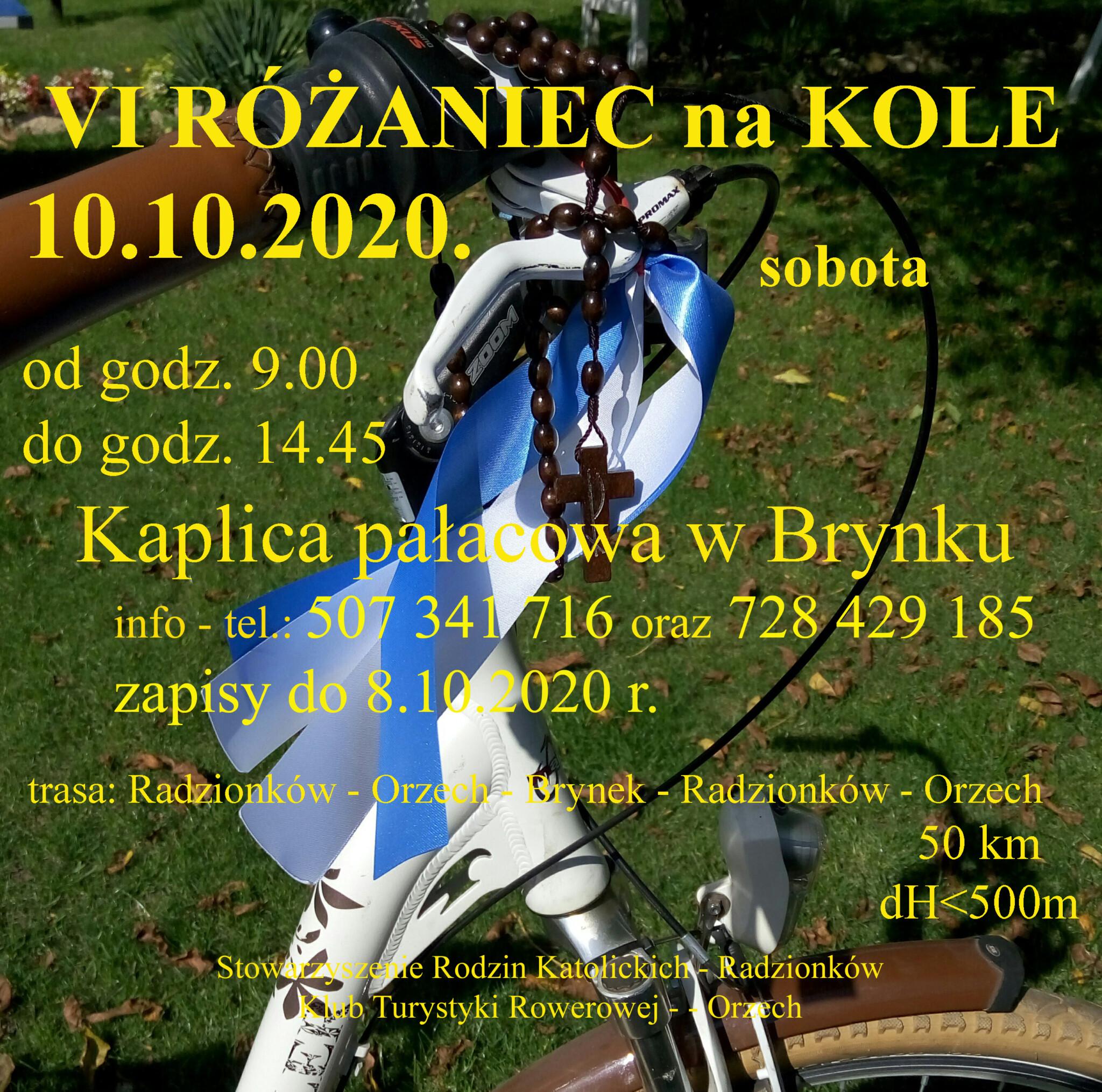 """Plakat """"VI Różaniec na kole"""""""