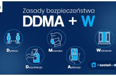 Zasady bezpieczeństwa DDMA i W Covid-19