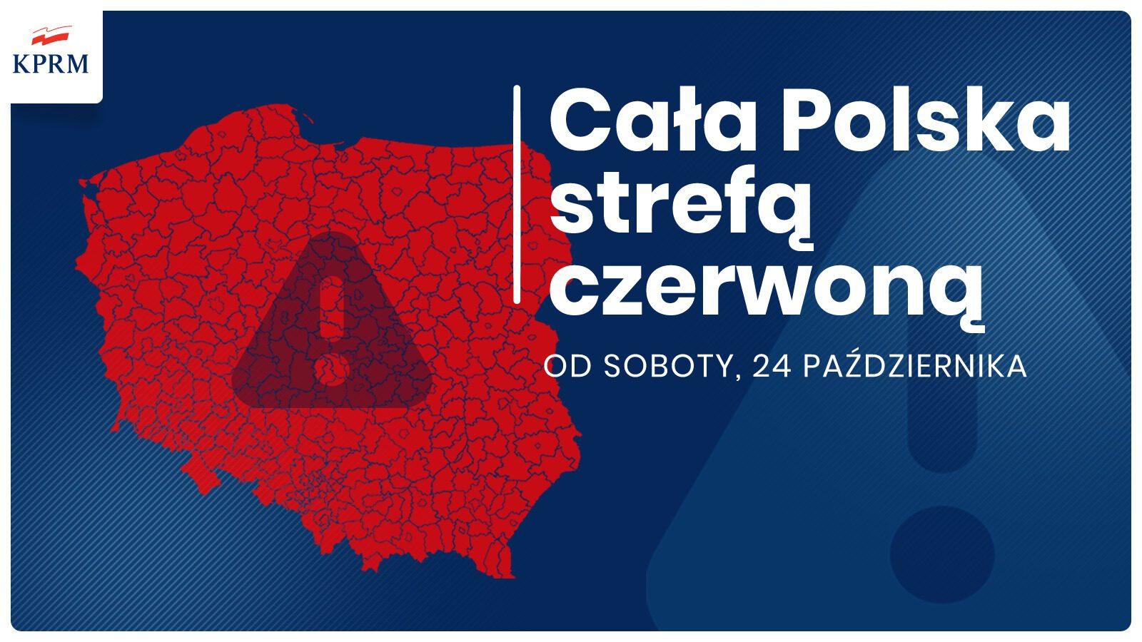 Covid-19 Cała Polska w strefie czerwonej od soboty 24.10.2020