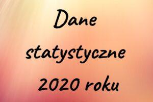 Dane statystyczne za 2020 rok