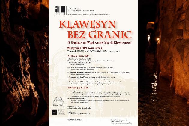 Klawesyn Bez Granic IV Seminarium Współczesnej Muzyki Klawesynowej - plakat