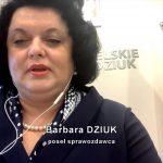 Poseł Barbara Dziuk jest jednym z wnioskodawców ustawy ws. odmowy przyjęcia mandatu nałożonego przez Policję
