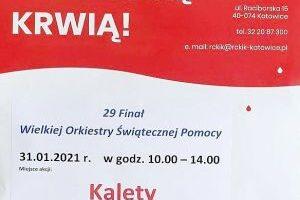 Akcja pobierania krwi podczas 29 finału Wielkiej Orkiestry Świątecznej Pomocy w Kaletach