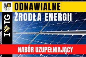 OZE: nabór uzupełniający na kolektory słoneczne i pompy c.w.u.